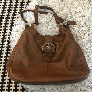 coach soho lynn leather hobo bag